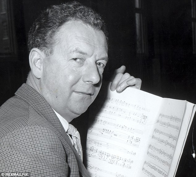 Composer: Though Benjamin Britten's fondness for under-age youths was not as predatory as Savile's behaviour, he is known to have slept in the same bed with at least one youngster. Lord Britten is seen in 1963