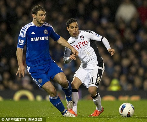 Loaned out: Kerim Frei in action against Chelsea last season