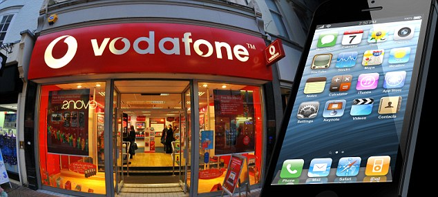 Promise: Customers who sign a contract for an iPhone 5, Samsung Galaxy S3 or Galaxy Note 2 with Vodafone from today will get a 70 per cent discount on leaving their contract when the service launches next year