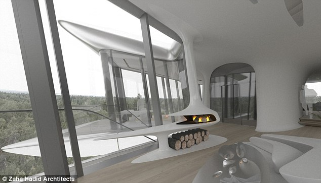 Inside the spaceship: The house is said to have its own gym, pool and spa
