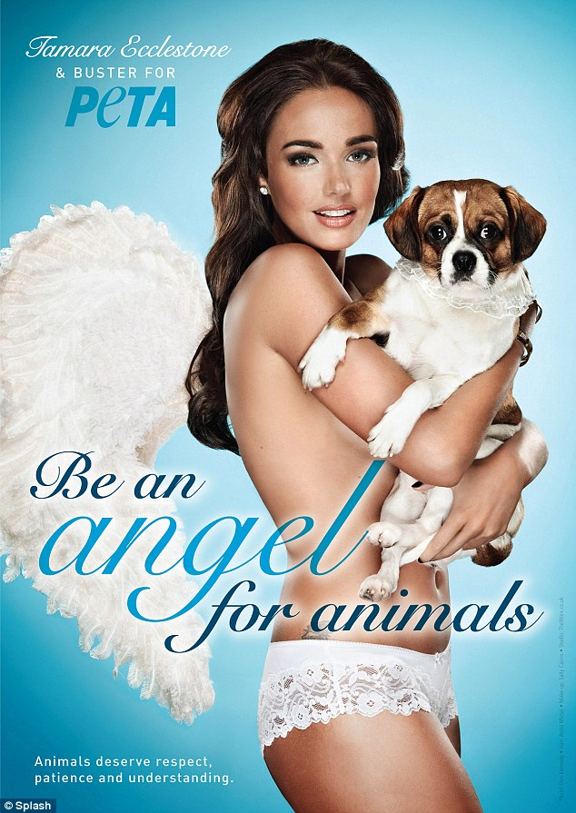 Double act: Tamara Ecclestone and her boy Buster urged more compassion and understanding for our four legged friends