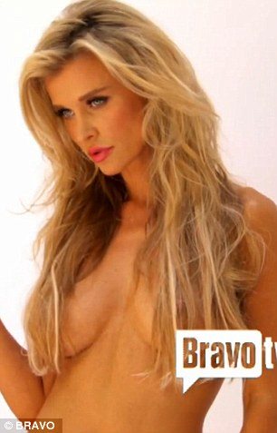 Modelling for a cause: The photo shoot aired on Krupa's reality TV show Real Housewives of Miami on Thursday