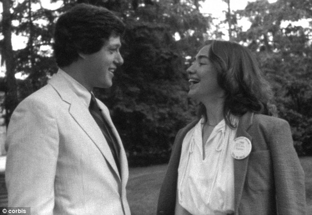Young love: Bill and Hillary Clinton at Wellesley College in 1969 when she was an undergraduate student
