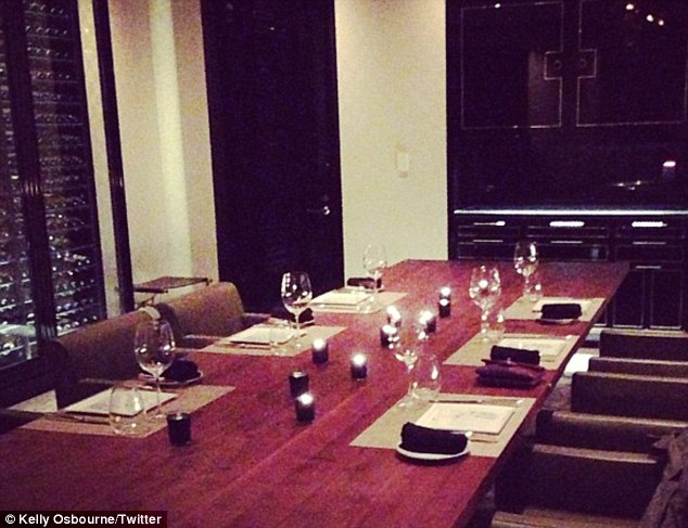 Prank: Kelly worried at first that no one was turning up for her L.A. birthday meal