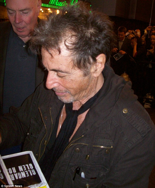 Crowd control: Al Pacino sjpws jos support to his fans by meeting them after the show