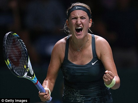 On top of the world: Victoria Azarenka kept her No 1 spot after beating Li Na in Istanbul