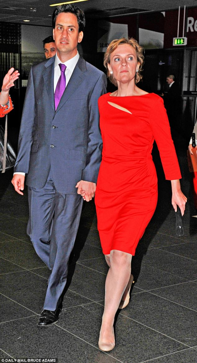 Controversial: Labour Party Leader Ed Miliband with wife Justine, who  is k representing both toxic waste exporters and travellers who set up an illegal camp