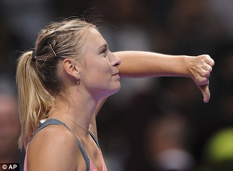 Not quite enough: Maria Sharapova beat Samantha Stosur but could not claim top spot in the rankings