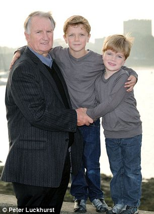 Challenge: Stan Heather, with his grandchildren Thomas, left, and Archie