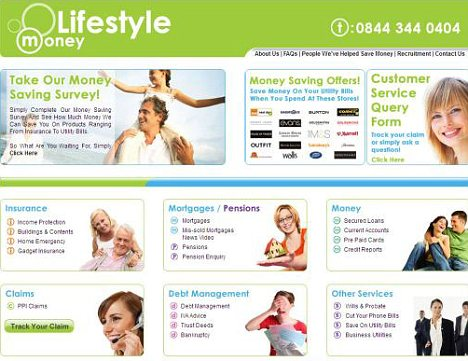 Surprise: The website of Lifestyle Money, which has the same address at Swansea as Lifestyle Claims, which had attracted many complaints