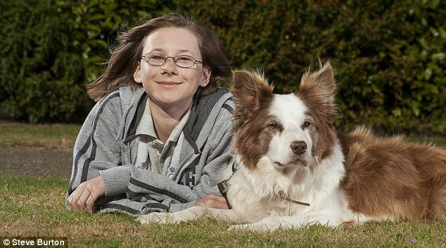 Caring: RSPCA fan Louisa Ingleton walks Lucy for  its elderly owner
