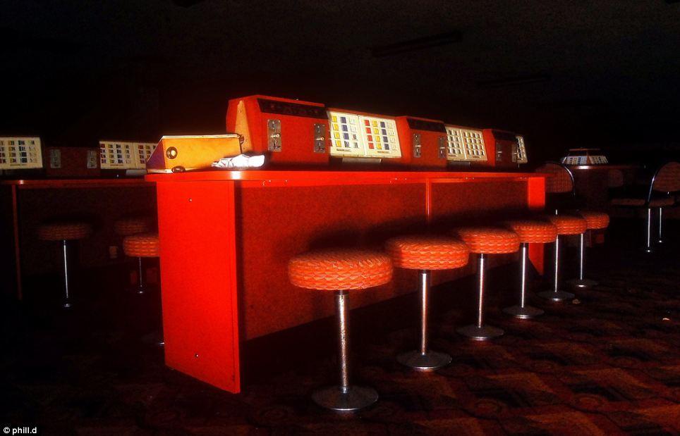 Eerie: The bingo hall inside the landmark building closed in 1997
