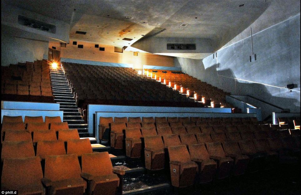 Run down: In its heyday the auditorium in the Bradford cinema could seat more than 3,000 people