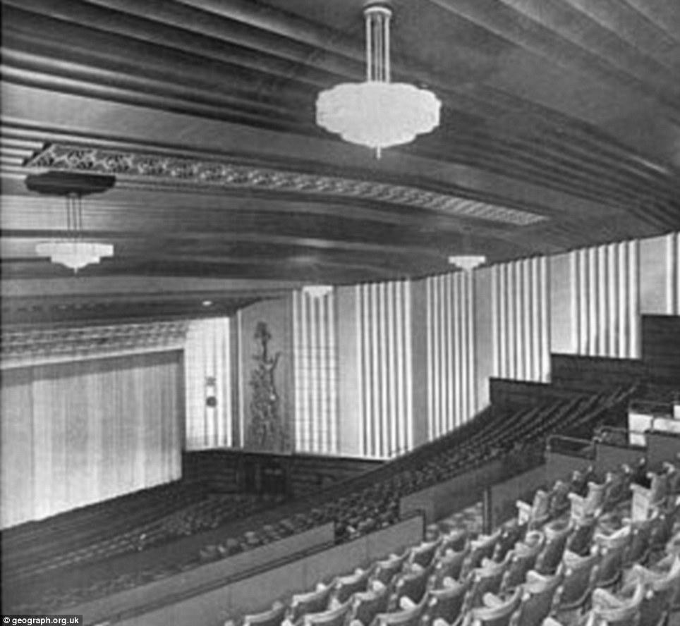 Opulent: The lavish auditorium inside the building in 1938