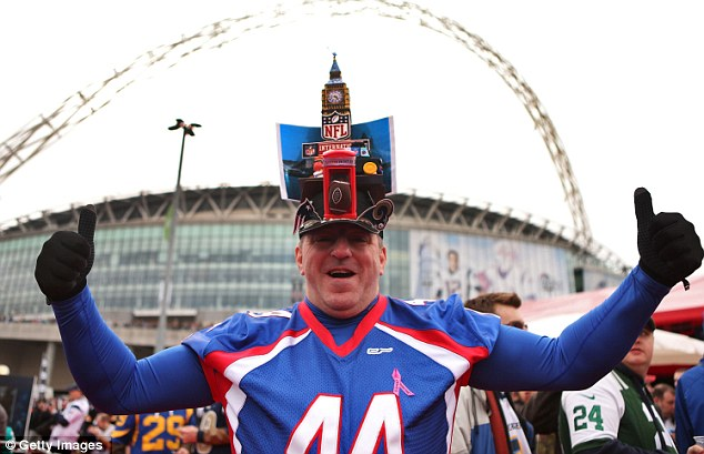 London calling: Thousands of NFL fans have descended on Wembley for the International Series showdown