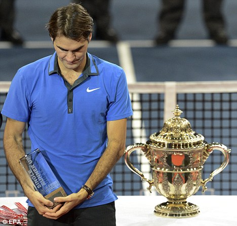 Switzerland's Roger Federer after losing his final match against Argentina's Juan Martin Del Potro