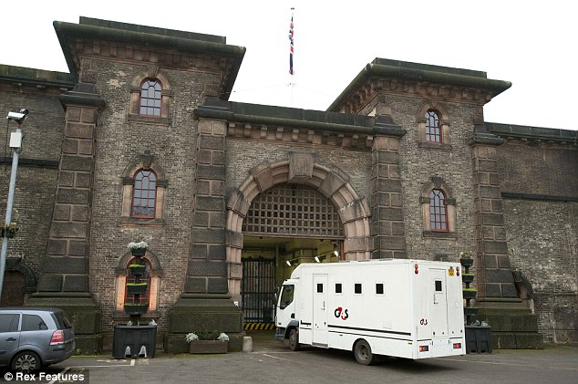 Jail time: Davenport has swapped his Portland Place mansion for the confines of Wandsworth Prison