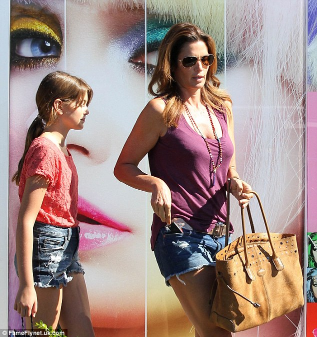Like sisters: Cindy and Kaia shopped for make-up at Sephora in Malibu