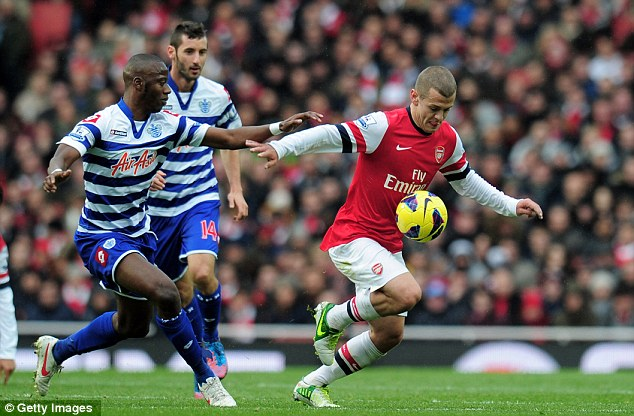 Welcome return: Wilshere was playing in an all new midfield to the one he last played in