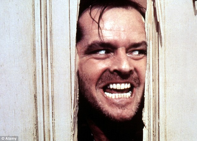 Calorie burner: The Shining, starring Jack Nicholson, has been found to burn an average 184 calories, close to the same amount as a half-hour walk