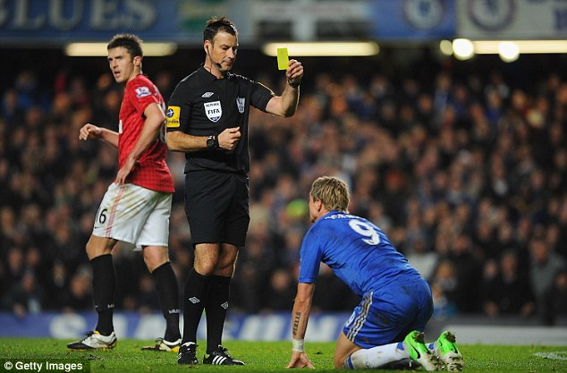 Marching orders: Referee Mark Clattenburg showed two red cards to Chelsea players on Sunday