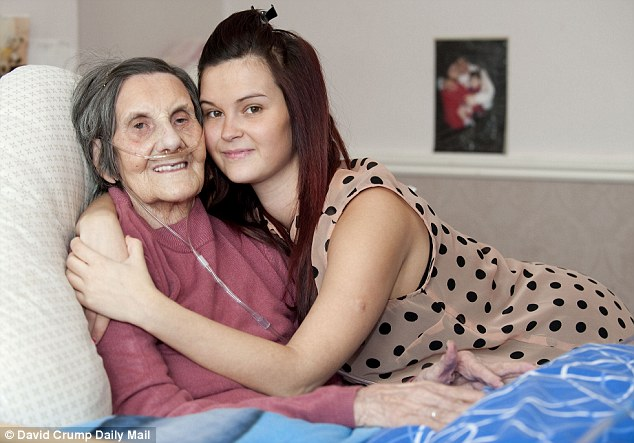 Recovery: Margaret Kibble with granddaughter Emily