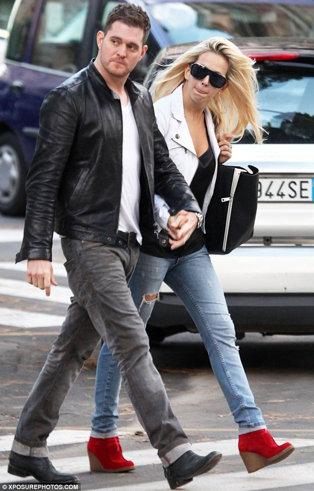 Double trouble: The pair went for a matching look as they enjoyed their romantic trip