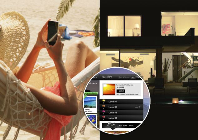 The app can also be used remotely to switch lights on and off when you are on holiday