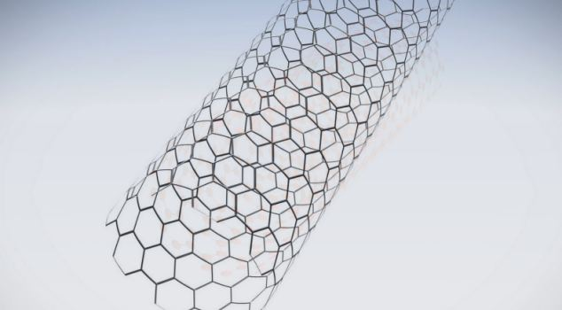 Nanotubes (pictured), single atomic sheets of carbon rolled up into a tube, are printed on the nanopaper along with a dielectric ink and a semiconducting ink to create the transistor