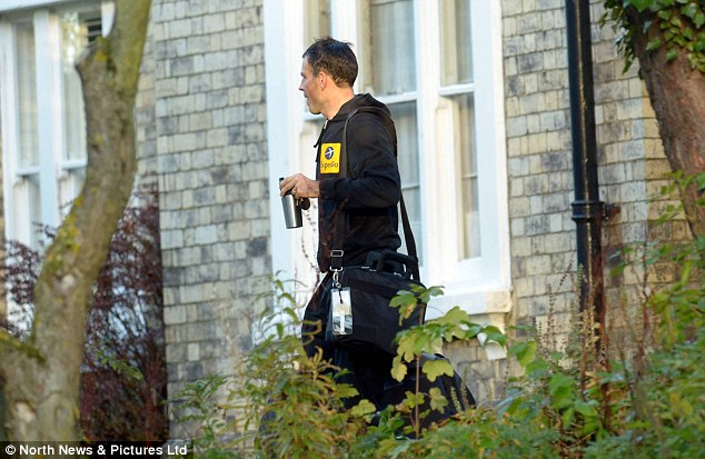 In the spotilight: Mark Clattenburg, leaves his home near Newcastle on Monday