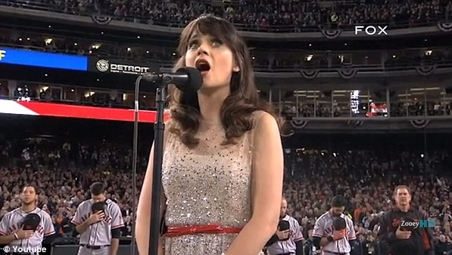 Sultry voice: Zooey started off in a low voice, but proved she can hit those high notes too