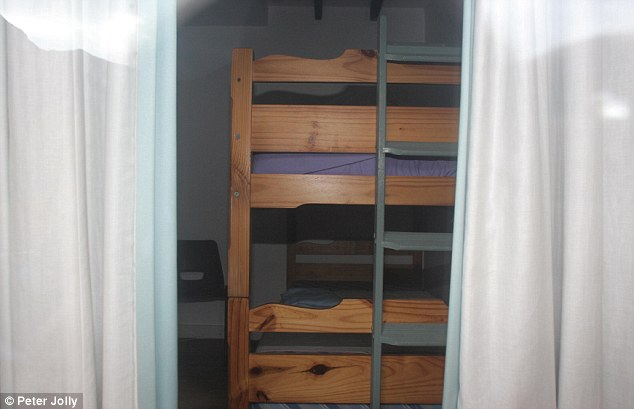 Through the window: This picture shows a set of bunk beds in bedroom in the cottage where more than 20 people may have been abused