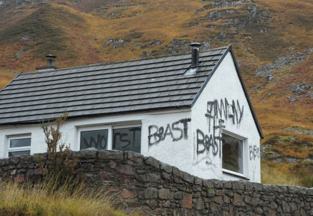 Evidence: The remote cottage was raided last week by police