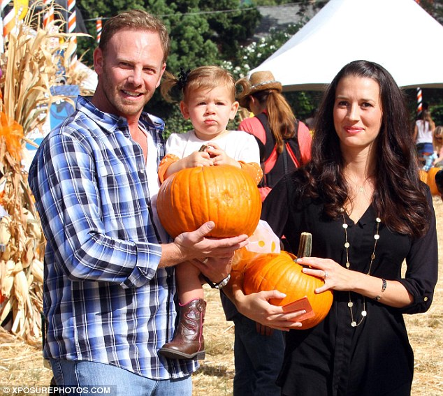 One more pumpkin: The Ziering family has a new addition who shares her daughter's birthday