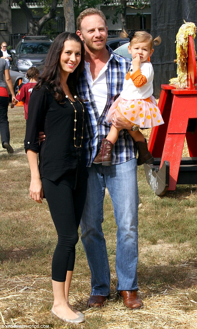 Baby on the way: In October of last year, Ian and Erin treated their daughter, Mia, 18 months, to a day at Mr. Bones Pumpkin Patch in West Hollywood