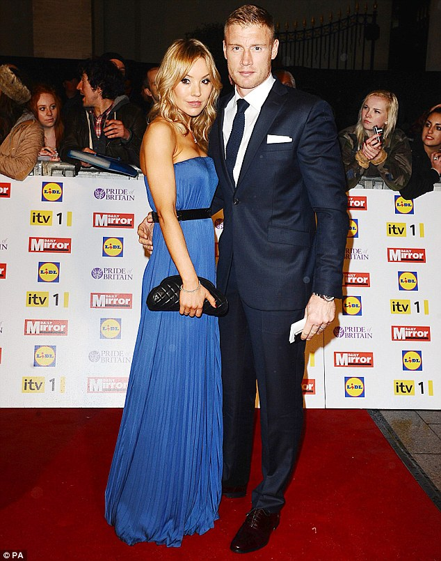 Suits you! Freddie Flintoff showed off a slimline new physique at the Pride Of Britain awards, after shedding 30lbs in the past seven weeks