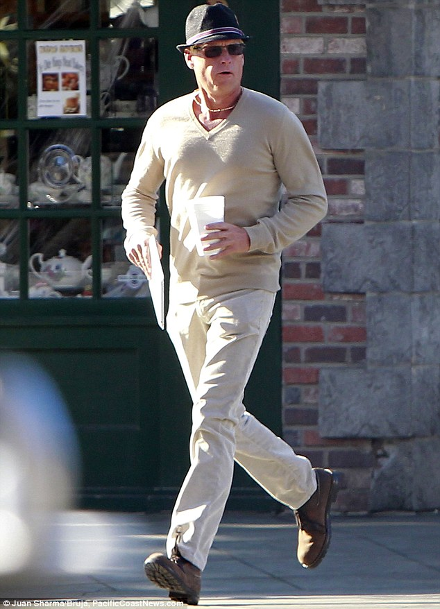 Made over: Joe Simpson, continuing his flamboyant transformation, was spotted in Los Angeles on Monday morning