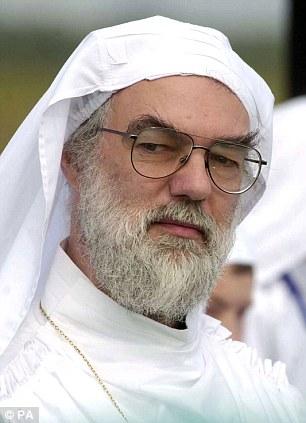 'Pagan garb': Rowan Williams at a druid festival