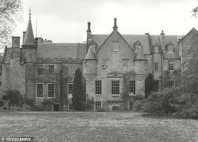 Exuberance: Pilot Walter Beisiegel claims he  swooped down and buzzed a garden at Carberry Tower, pictured, where a pregnant 29-year-old Duchess of York was walking