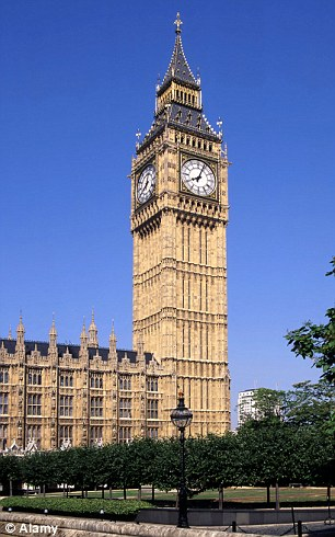 Clocking up the cash: The iconic Big Ben clock could be hired out to film-makers as a film set