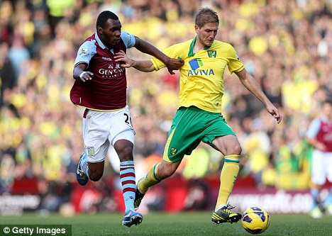 Tester: Aston Villa head for Swindon on the back of a 1-1 draw with Norwich