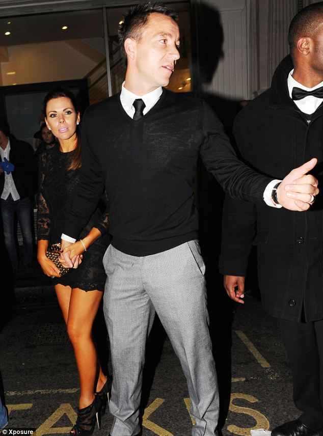 Terry and his wife Toni leave Novikov in London on Saturday night as he takes the chance for a night off because of his four game FA ban