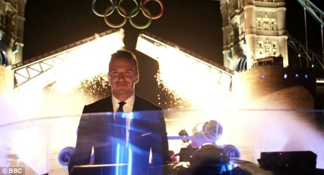 David Beckham used a speedboat to carry the torch up the Thames to the Olympic Games opening ceremony