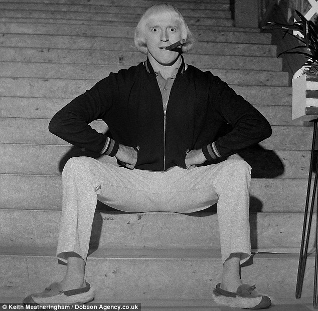 Jimmy Savile pictured at the Liberal Party Conference in Scarborough in 1965