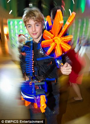 11. Harry, 12, plays with Nerf Blasters, £44.99