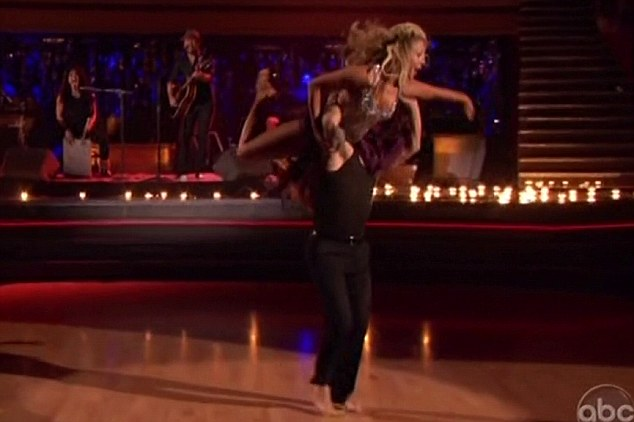 Pros: The performance was accompanied by a display from pro dancers Mark Ballas and Chelsie Hightower