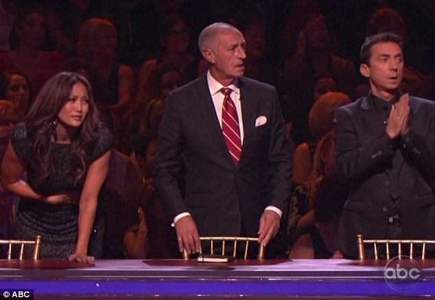 Total shock: Even the judges could not believe there ears and Carrie Ann Inaba looked in physical pain