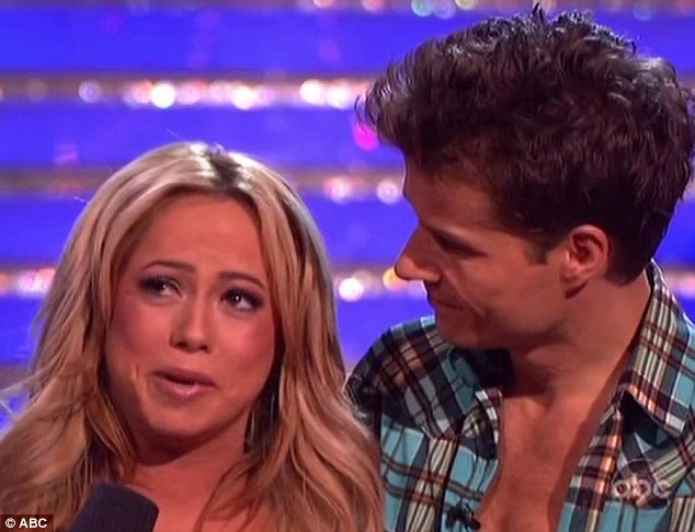 Devastated: Sabrina Bryan was shockingly booted off Dancing With The Stars on Tuesday's elimination show