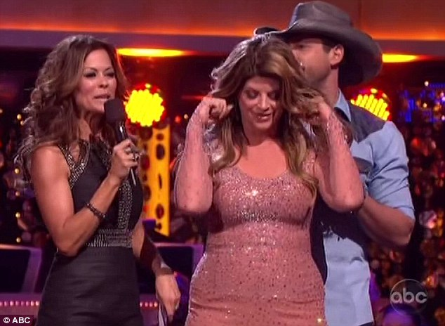 Anticipation: DTWS favourite Kirstie Alley puts her hands over her ears as her dancing fate is revealed