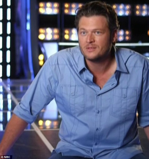 In the hotseat: Now it was Blake Shelton's turn to make all the difficult decisions on the show